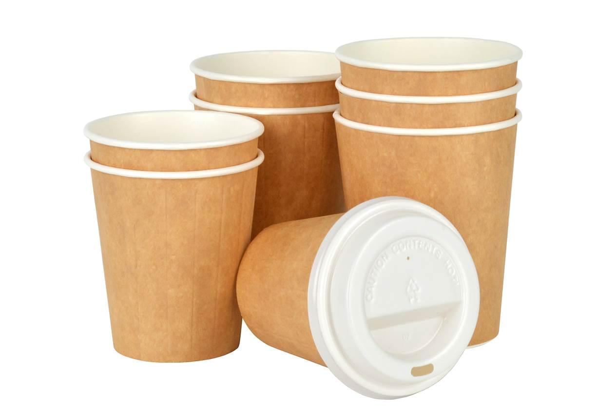 Kubki papierowe termoizolacyjne Kraft